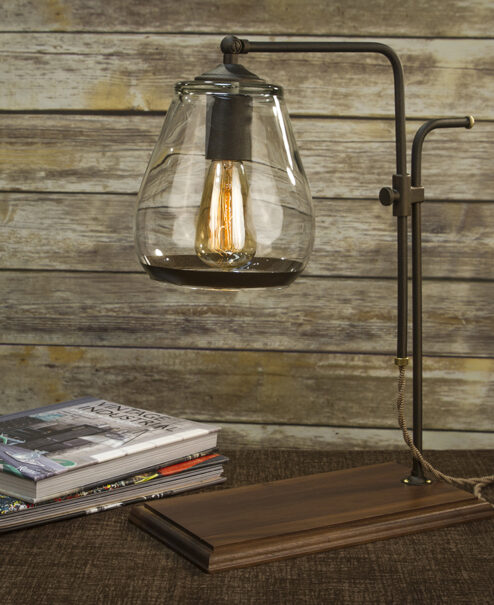 Edison Bulb Industrial Table Lamp