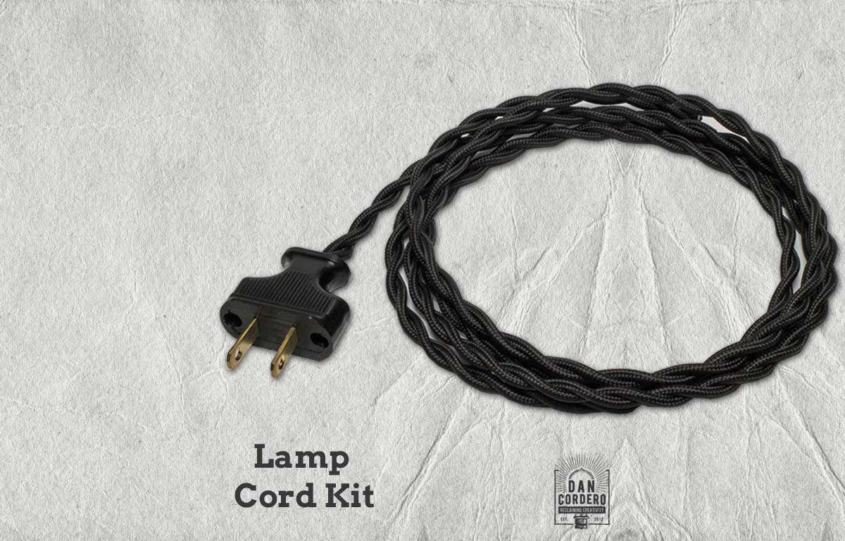 Lamp Cord Kit Vintage Dimmer Antique Wiring Black