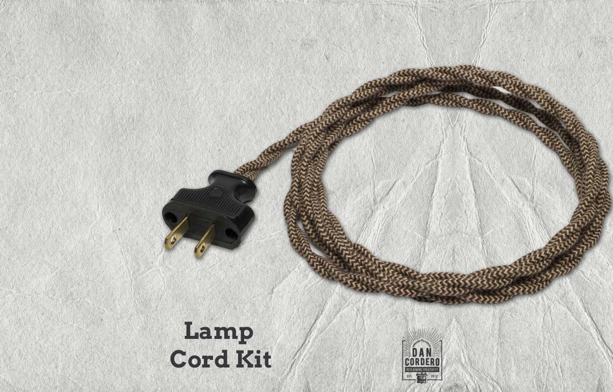 Awesome Lamp Cord Kit Zig Zag Pattern Vintage Lamp Cord Lamp Dimmer Wiring Digital Resources Inamapmognl