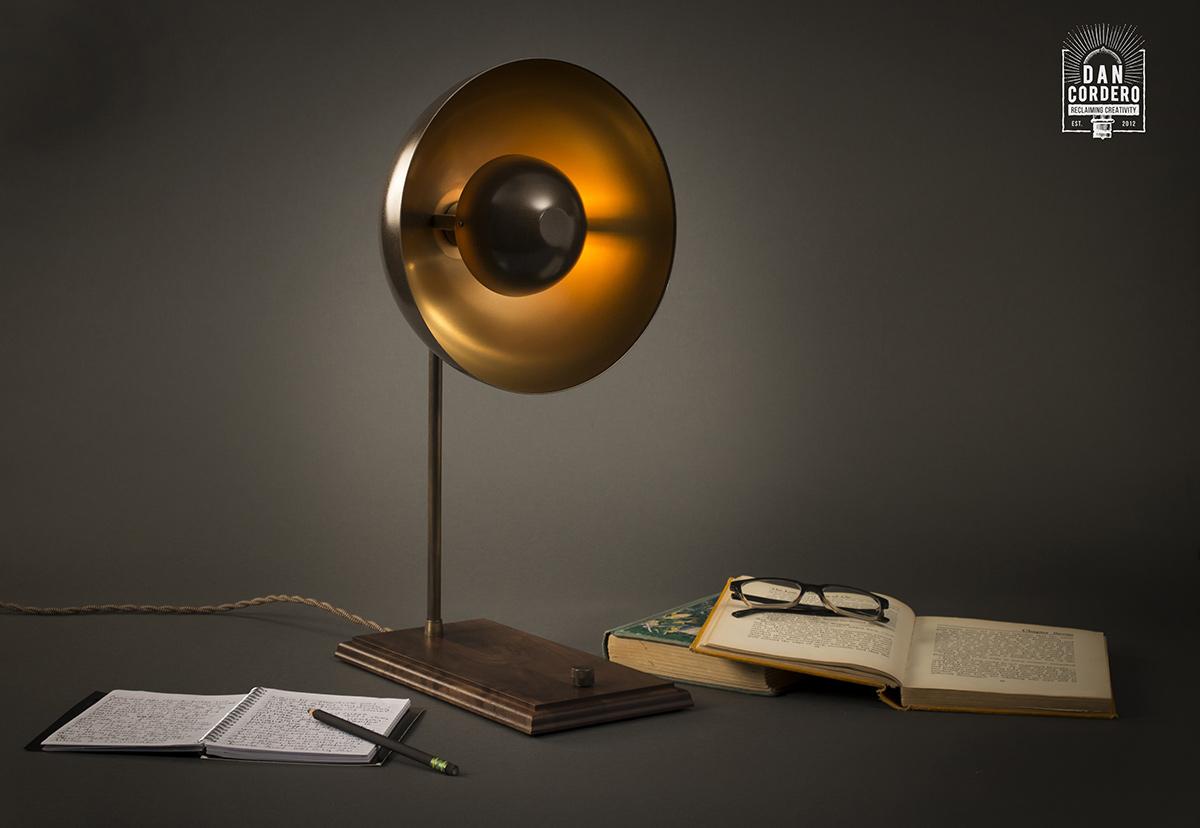 Eclipse Table Lamp Aged Brass Desk Lamp Dan Cordero