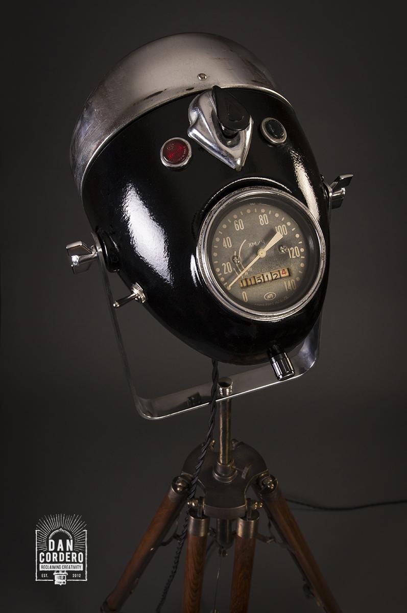 Motorcycle Headlight Floor Lamp Vintage Motorcycle Lamp