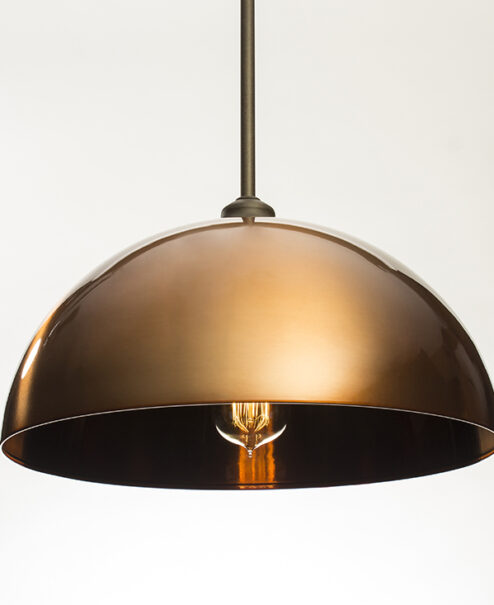 Copper Dome Light Fixture