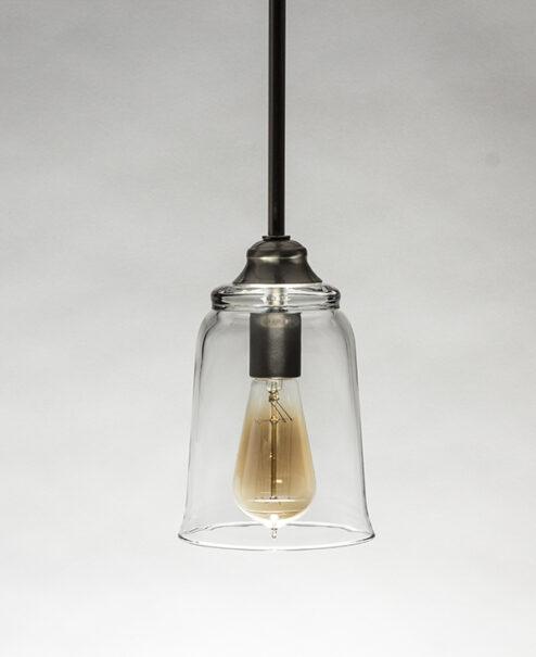 Edison Pendant Light Fixture Bell Shade Brush Nickel