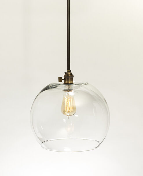 Oversized Glass Globe Pendant