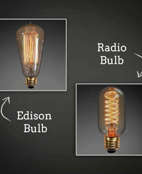Edison vs Radio bulb