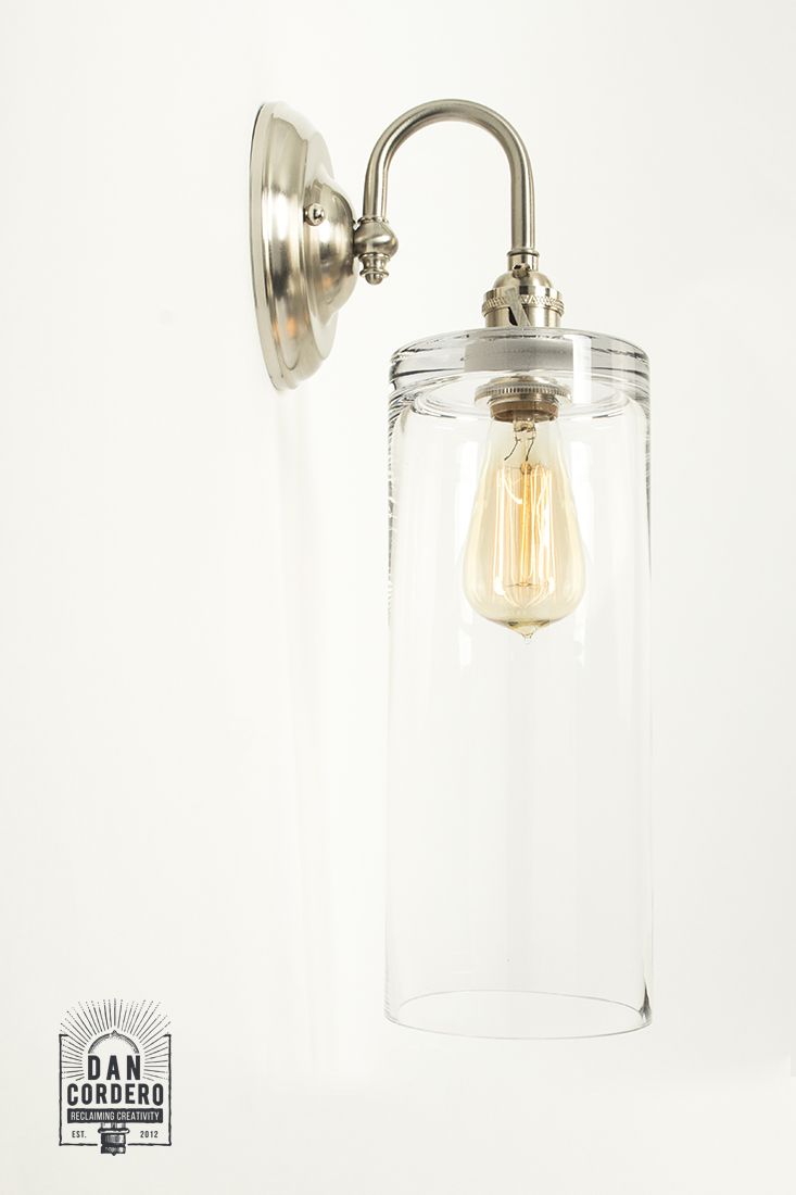 Edison Wall Sconce Light Fixture - Cylinder Shade