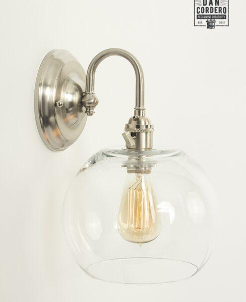 Edison Wall Sconce Light Fixture - Globe Shade