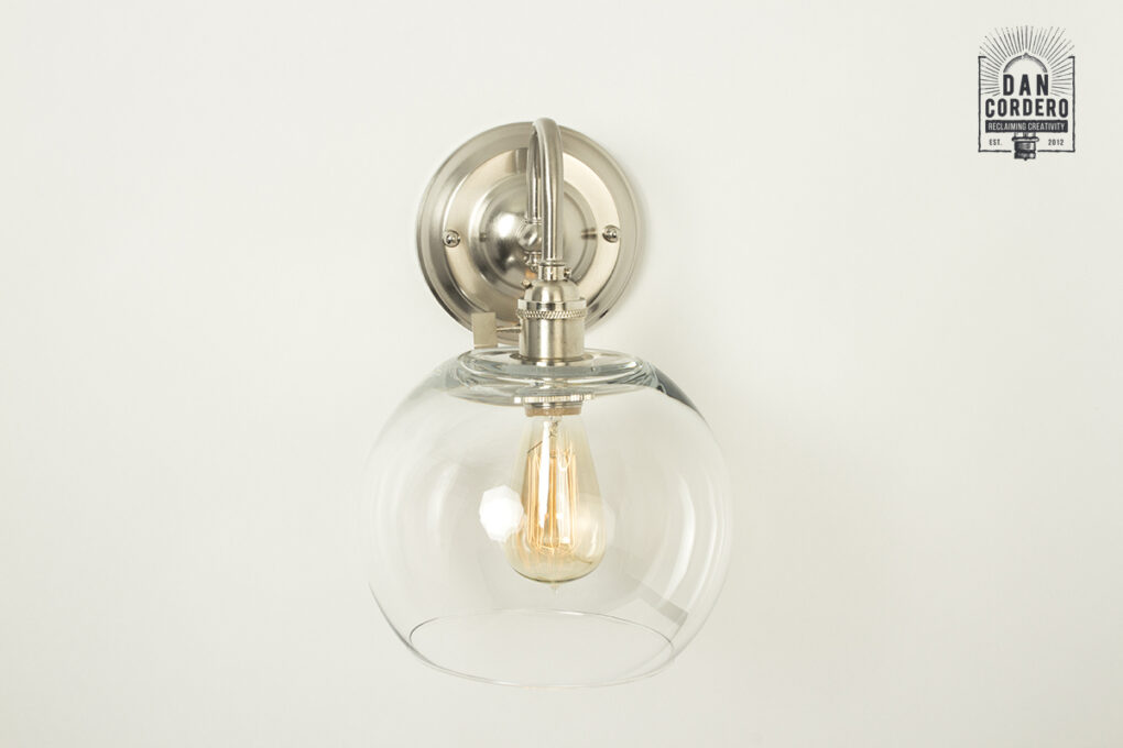 Edison Wall Sconce Light Fixture - Globe Shade