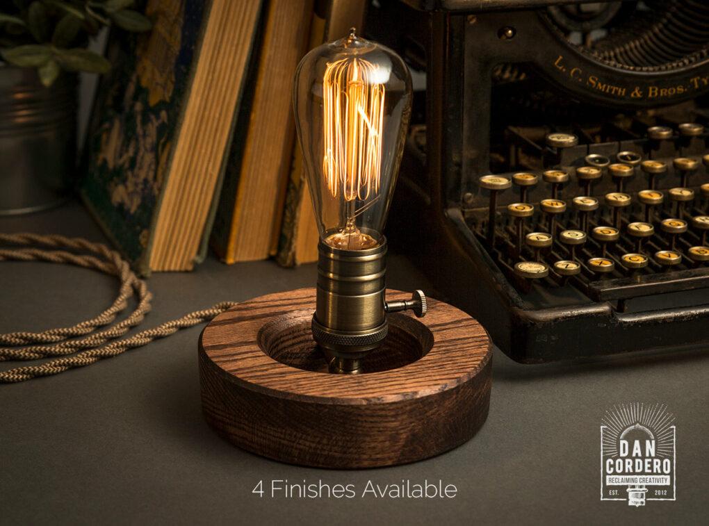 Wooden Edison Desk Lamp