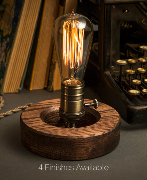 Wooden Edison Desk Lamp