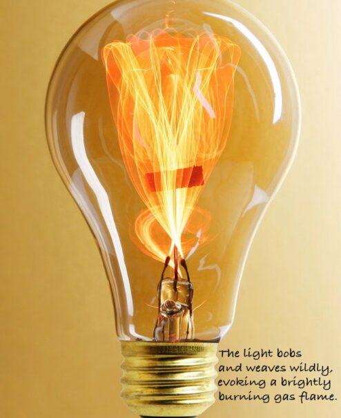 Flickering Edison Bulb Table Lamp
