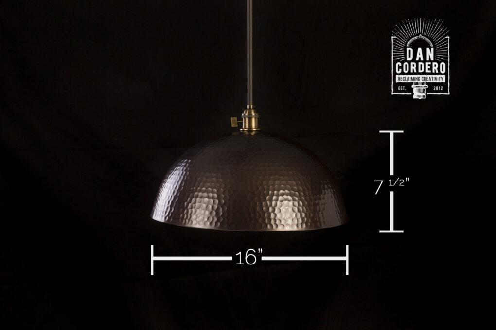 "16"" Hammered Pendant Light Fixture"