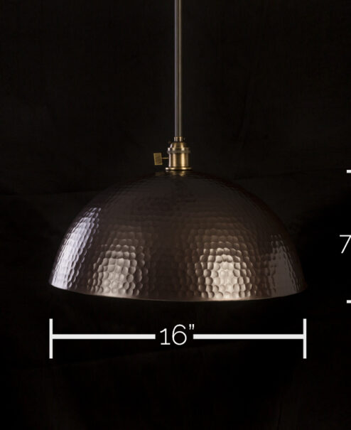 "16"" Hammered Pendant Light Fixture"