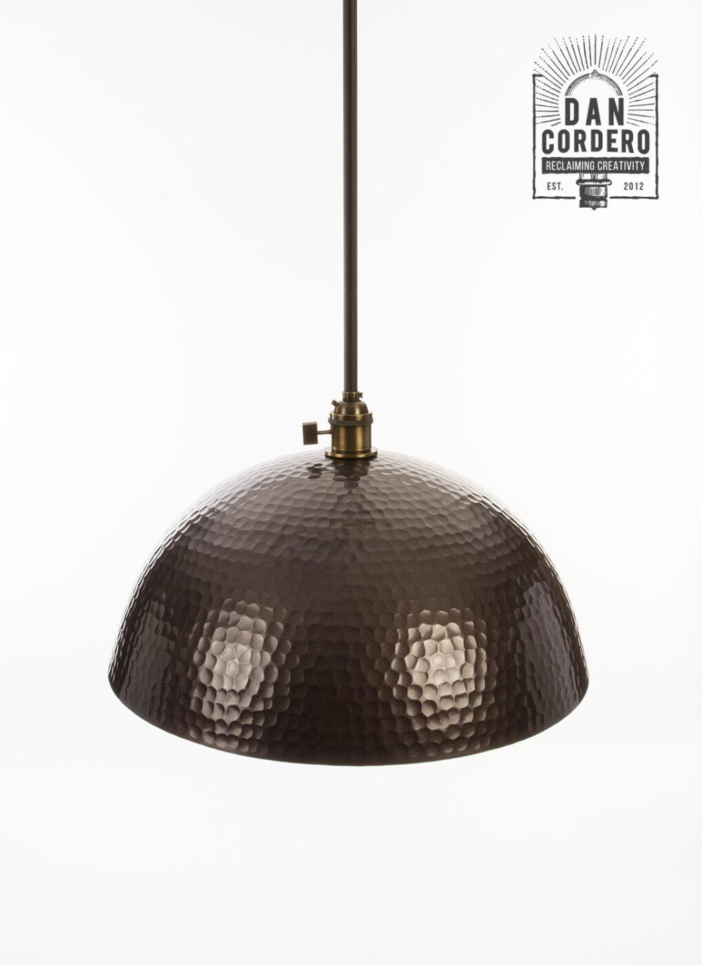 Bronze Hammered Pendant Light Fixture