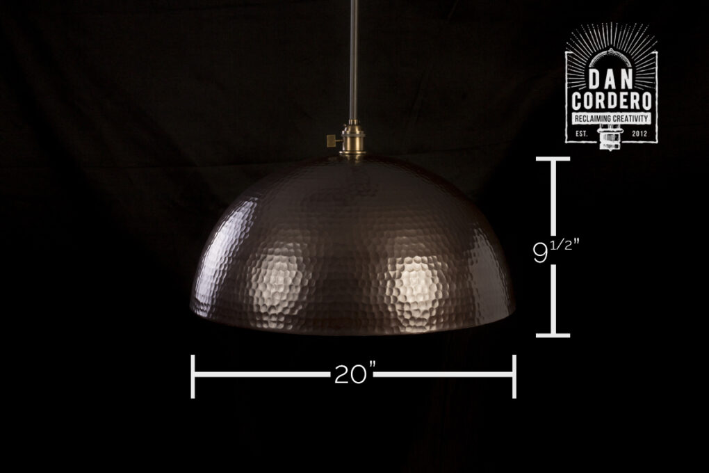 Bronze Hammered Pendant Light Fixture