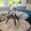 Vintage Motorcycle Headlight Table Lamp