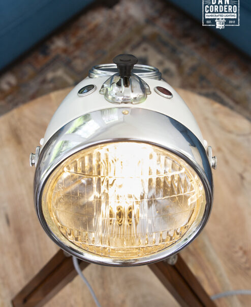 Vintage Motorcycle Headlight Desk Lamp