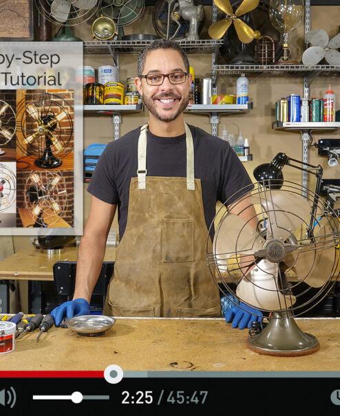 DIY Fan Lamp
