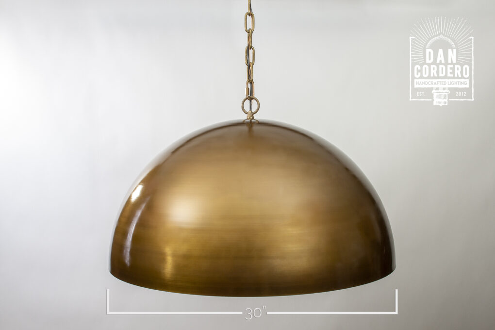 "30"" Dome Pendant Light Fixture"
