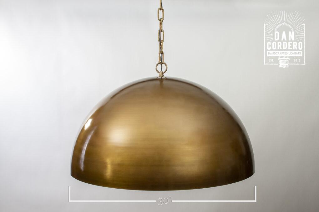 "30"" Dome Pendant Light Fixture"