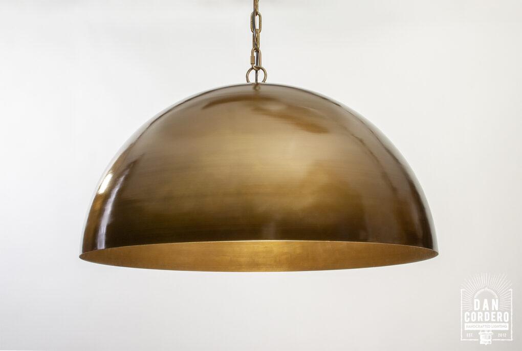 Antique Brass Pendant Light Fixture