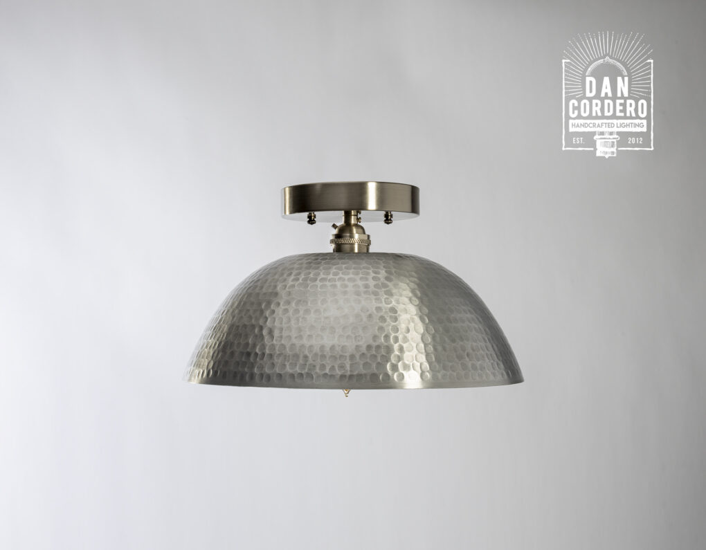 Hammered Dome Light Fixture