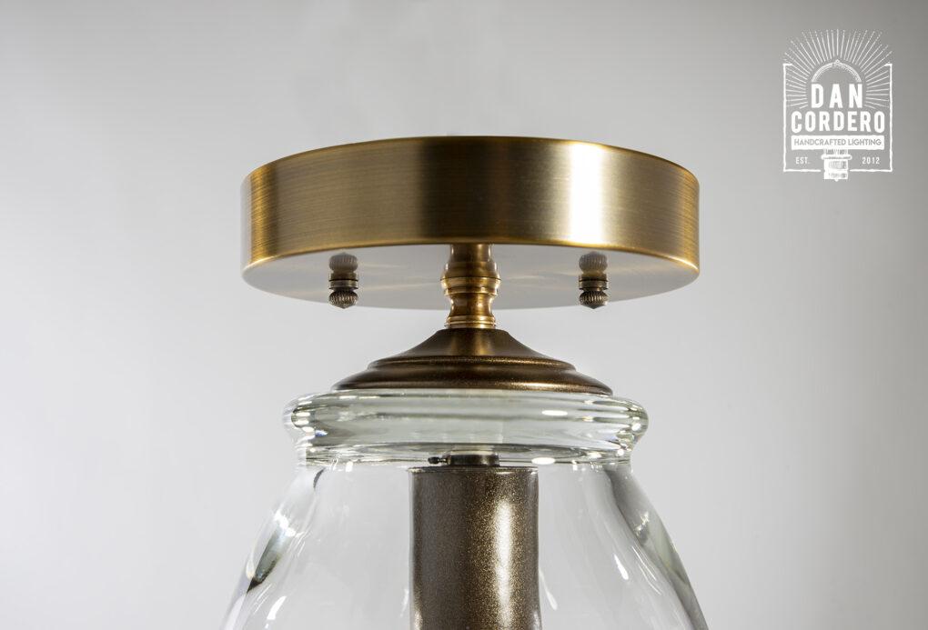 Glass Flush Mount Light