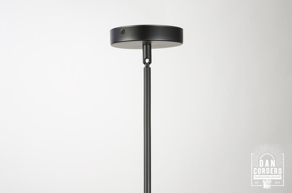 Flat Black Hammered Pendant Light