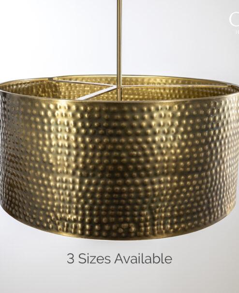 Hammered Drum Pendant Light