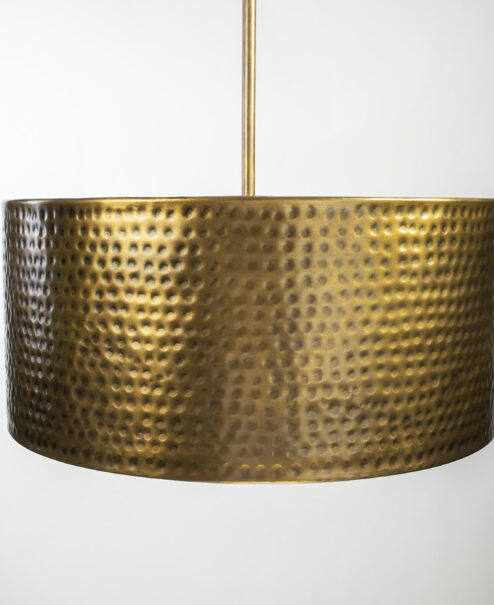 Hammered Drum Light Fixture