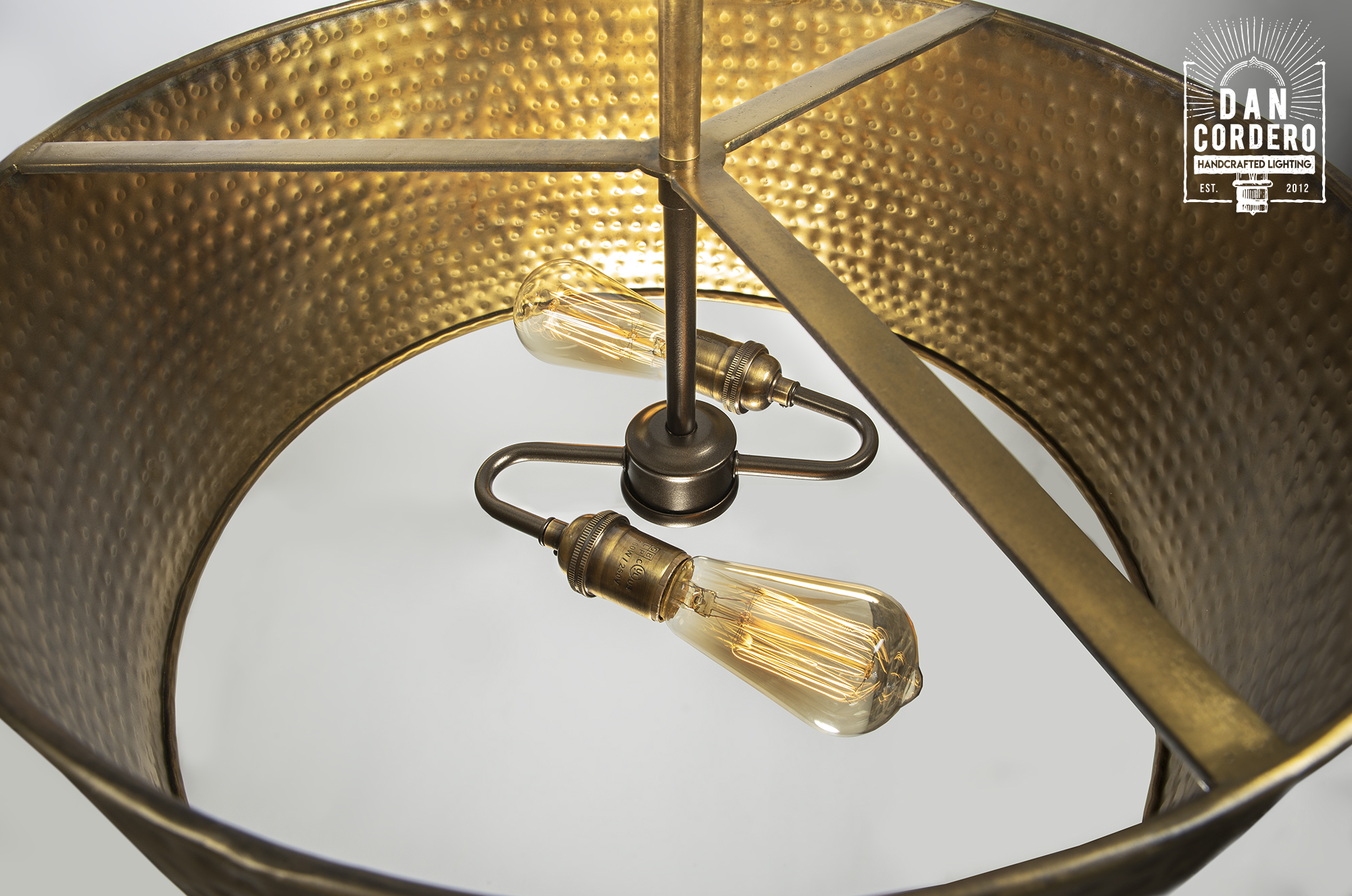 Delmont Hammered Drum Pendant Light Fixture