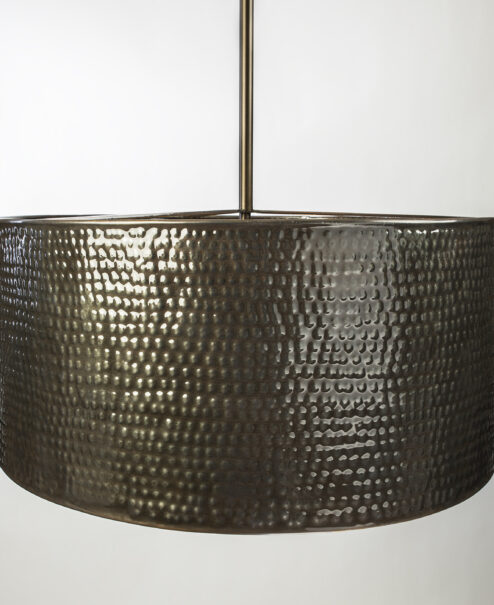 Bronze Drum Pendant Light Fixture