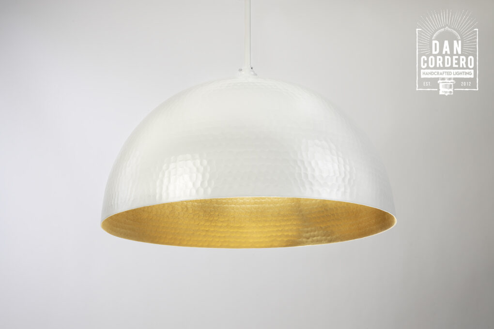 White Dome Pendant Light
