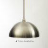 Brushed Nickel Dome Pendant