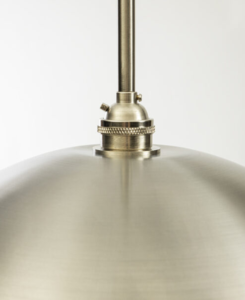 Brushed Nickel Socket Pendant