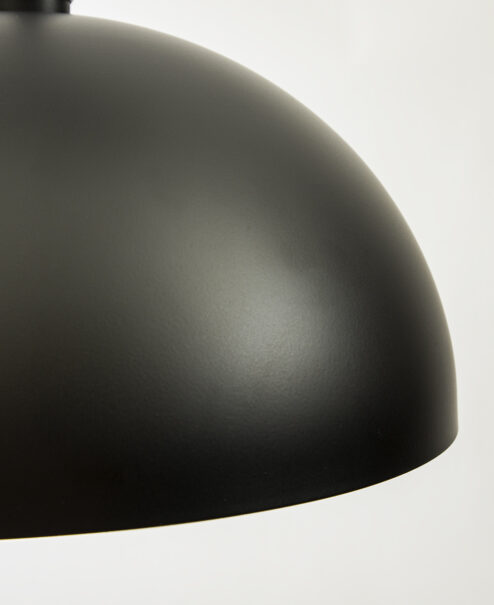 Matte Black Dome Pendant Light Fixture