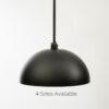 Matte Black Dome Pendant Light Fixture