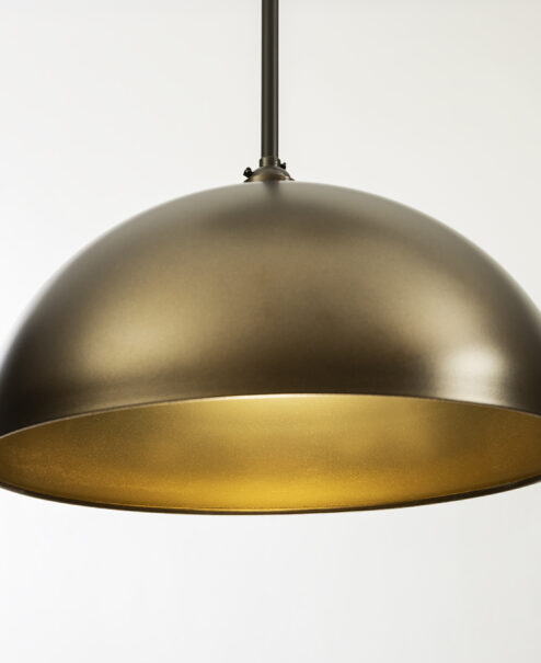 Oil Rubbed Bronze and Gold Pendant Light Fixture