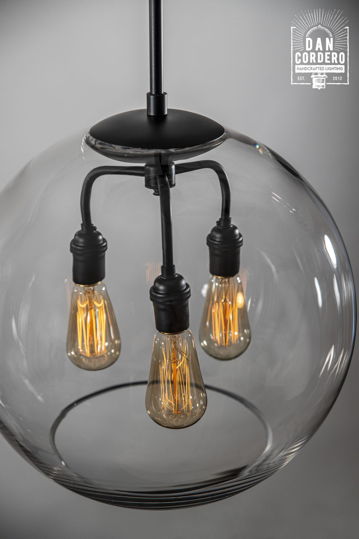 "16"" Glass Globe Pendant Light"