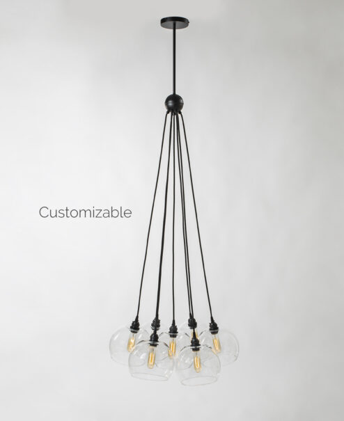 Hanging Glass Globe Chandelier