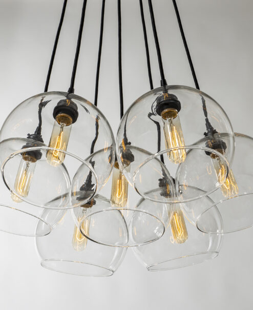 Glass Globe Light Fixture