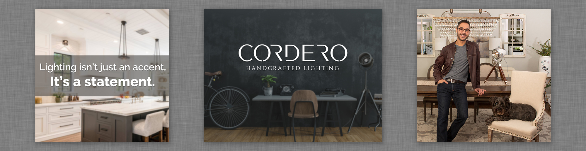 Cordero Handcrafted Lighting Banner