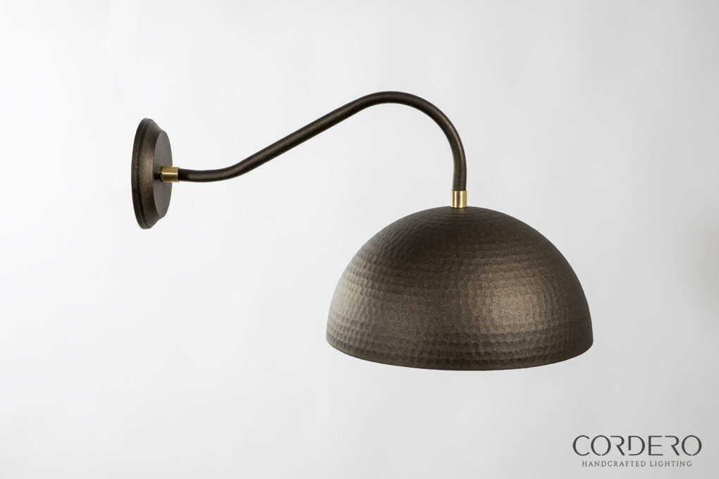 Side Profile of Hammered Sconce