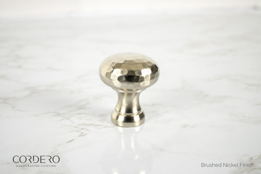 Brushed Nickel Hammered Knob