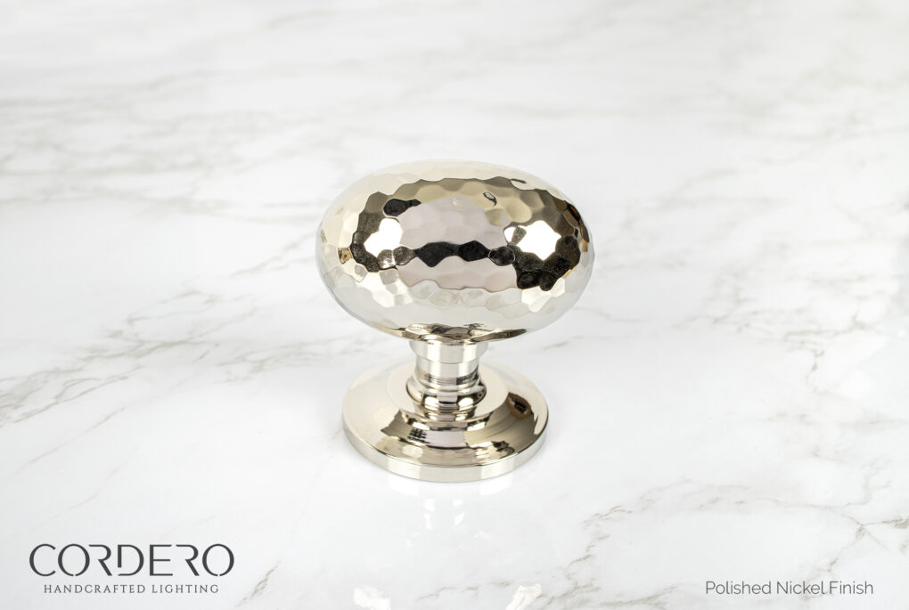 Polished Nickel Hammered Door Knob