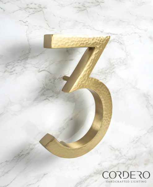 Hammered House Numbers