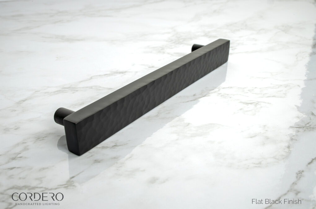 Flat Black Hammered Pull
