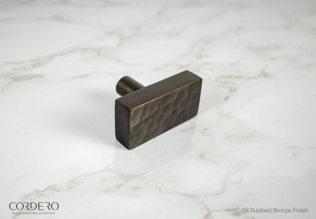 Oil Rubbed Bronze Hammered Knob