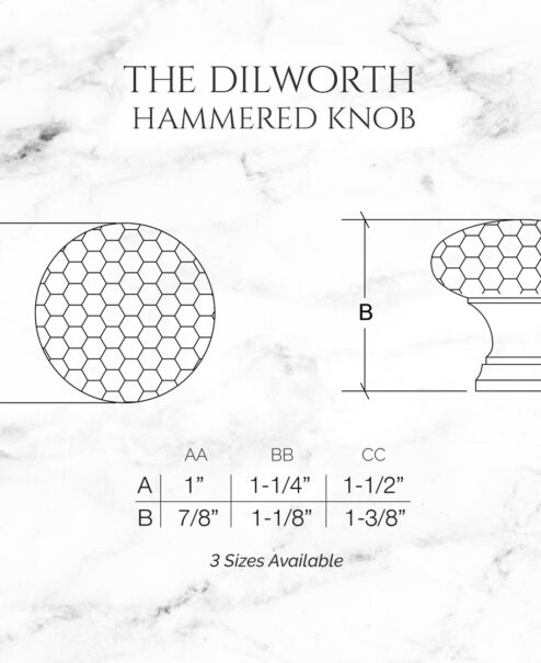 The Dilworth Hammered Knob