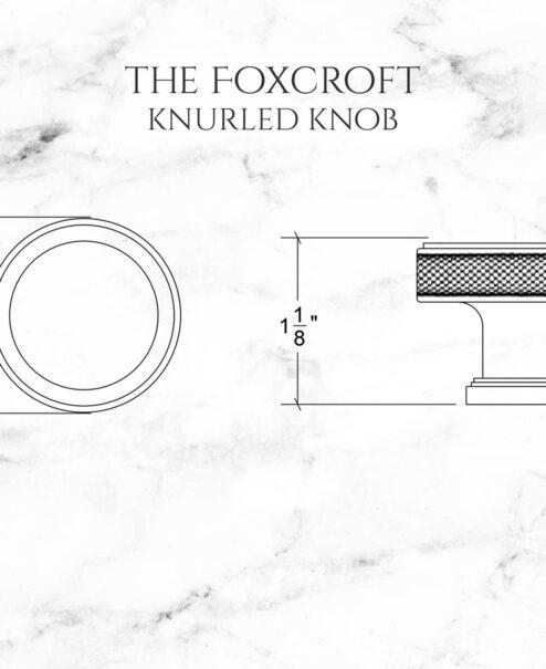 The Foxcroft Knurled Knob